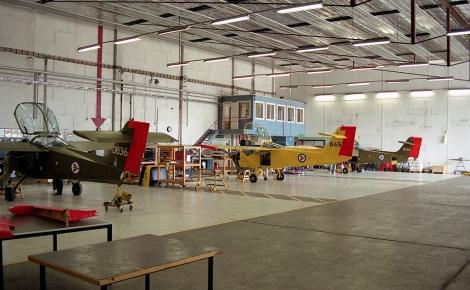 Her er et bilde fra da Flyskolen holdt til på Værnes Flystasjon Foto: Kjell Arild Skogan Bersås