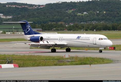 Blue Line Fokker F100