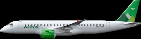 Illustrasjon: Widerøe / Embraers